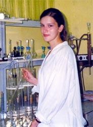 М.н.с. Елена Мошкина проводит анализ аминокислот