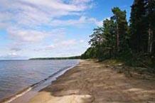 Побережье Онежского озера пляжного типа