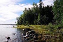 Побережье Онежского озера валунного типа