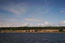 Общий вид на Шокшинский карьер с онежского озера
