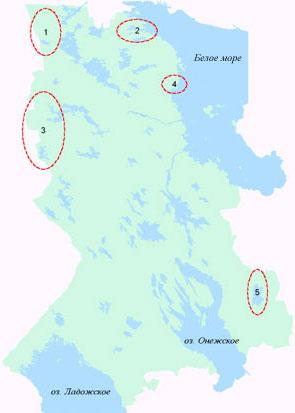 Крупнейшие массивы коренных лесов Карелии