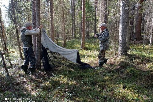 Ученые устанавливают ловушку Малеза. Фото А. Протасовой