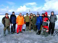 Коллектив участников бурения донных отложений на Онежском озере, Петрозаводская губа, в 2019 году