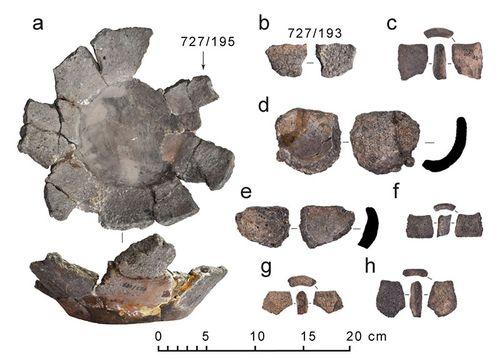 Рис.1. Тигли из раскопок Тиверского городища