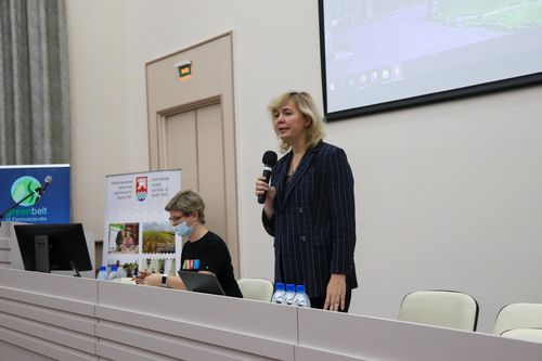 Открыла заседание генеральный директор КарНЦ РАН Ольга Бахмет