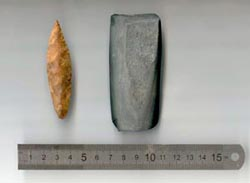 Рукотворные предметы, найденные в районе мыса Кладовец