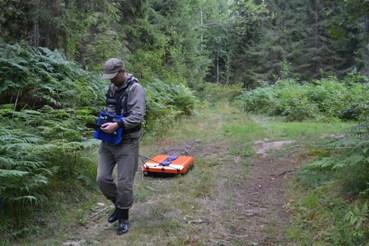 Георадарная съёмка в лесу