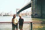 С Андреем возле Бруклинского моста