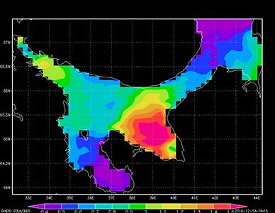 Разработан численный комплекс JASMINE, предназначенный для моделирования состояния вод, льда и экосистемы Белого моря