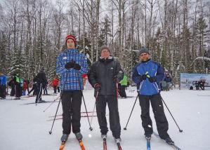 Наши мужчины-лыжники.