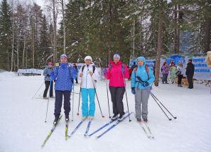 Наши женщины-лыжницы.