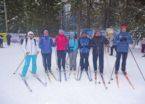 Коллектив лыжников ИПМИ.