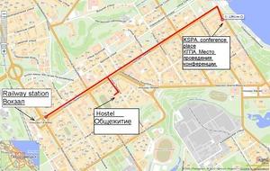 Карта Петрозаводска (конференция 2011)