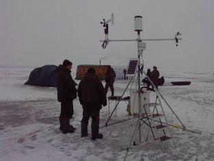 Установка лагеря для полевых исследований