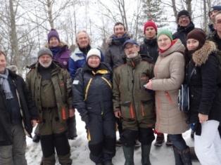 Участники экспедиции на внутренние водоемы Северного Приладожья